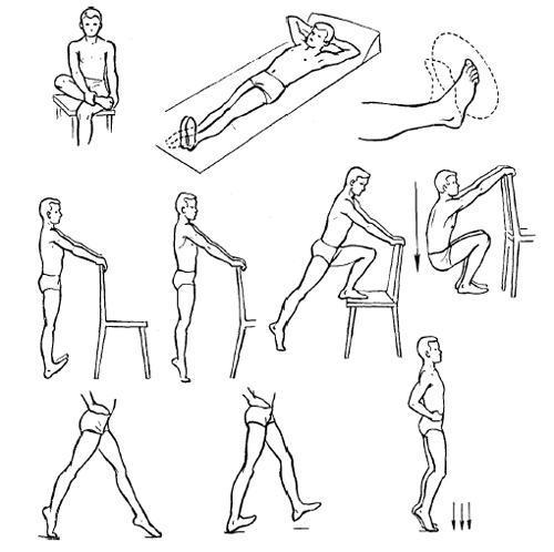 упражнения для восстановления лодыжки
